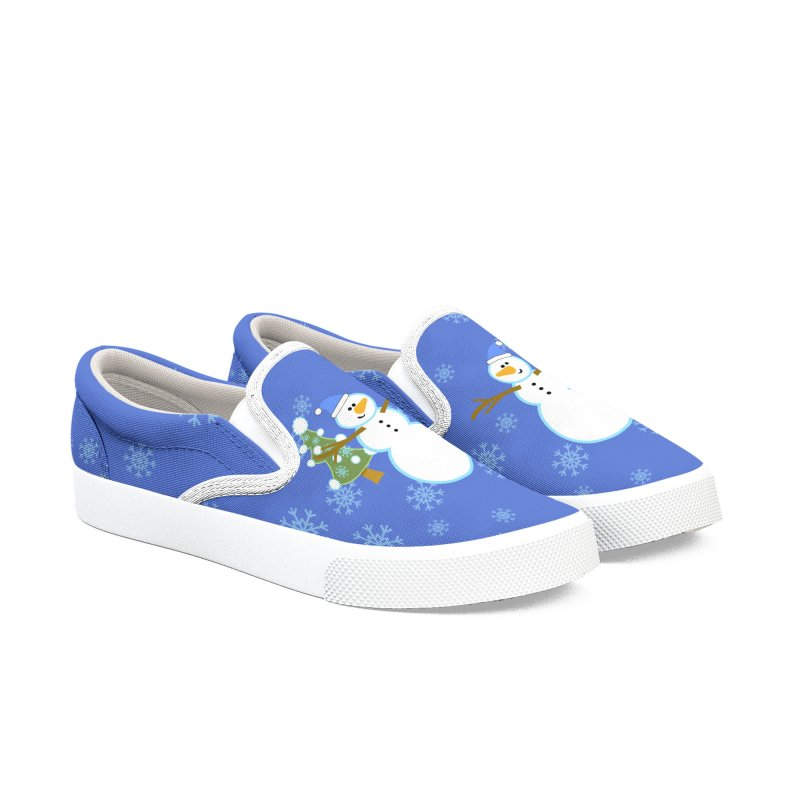 Funny Winter Men's Slip-On Shoes by PickaCS's Artist Shop