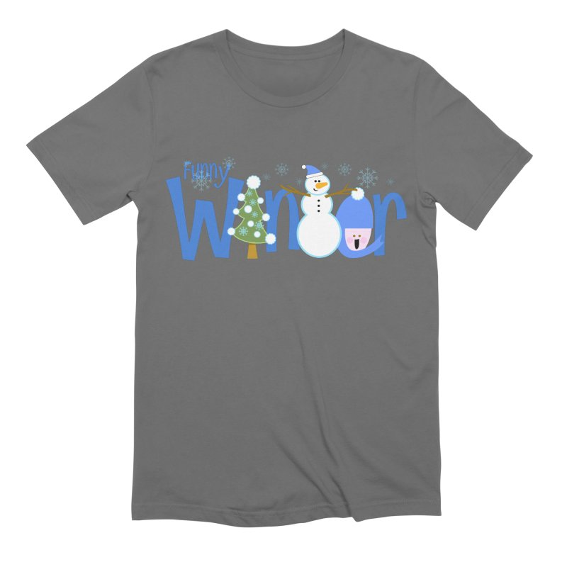 Funny Winter Men's Extra Soft T-Shirt by PickaCS's Artist Shop