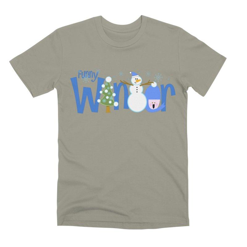 Funny Winter Men's Premium T-Shirt by PickaCS's Artist Shop