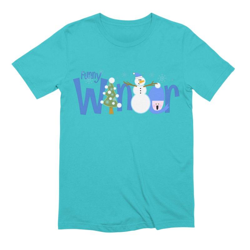 Funny Winter Men's Extra Soft T-Shirt by PickaCS's Artist Shop