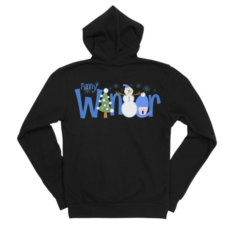 Funny Winter Men's Sponge Fleece Zip-Up Hoody by PickaCS's Artist Shop