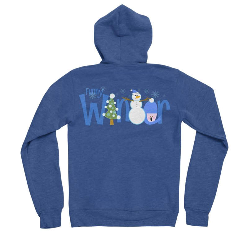 Funny Winter Men's Sponge Fleece Zip-Up Hoody by PickaCS's Artist Shop