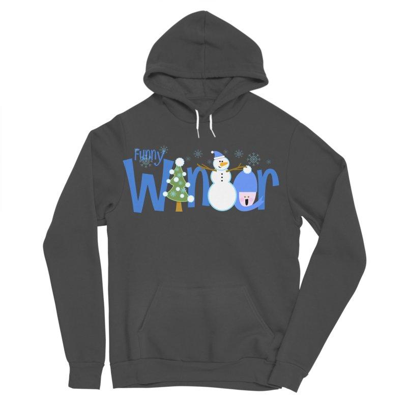 Funny Winter Women's Sponge Fleece Pullover Hoody by PickaCS's Artist Shop
