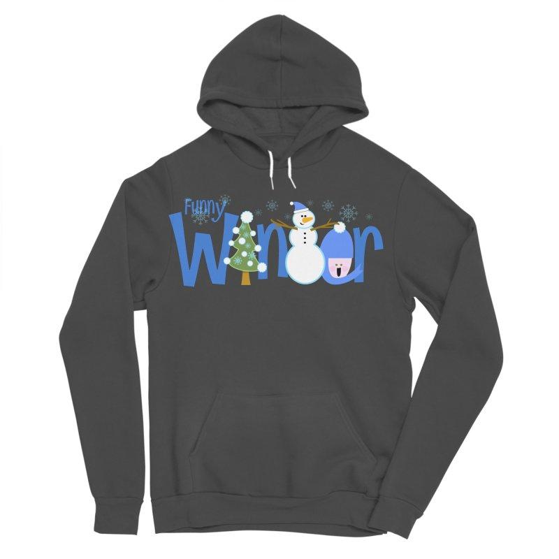 Funny Winter Men's Sponge Fleece Pullover Hoody by PickaCS's Artist Shop