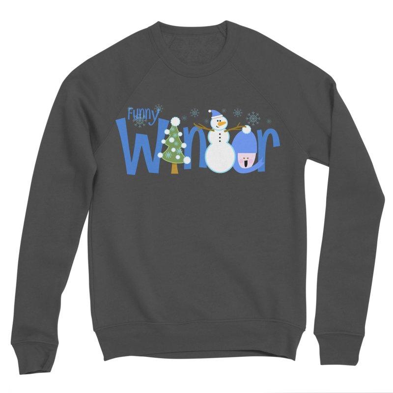 Funny Winter Men's Sponge Fleece Sweatshirt by PickaCS's Artist Shop