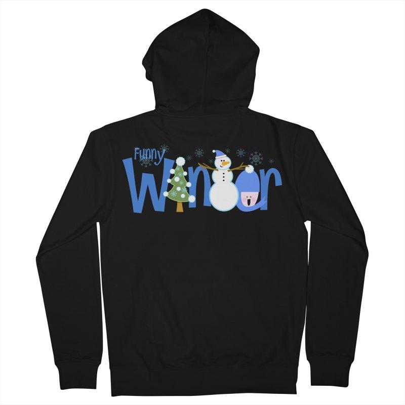 Funny Winter Men's Zip-Up Hoody by PickaCS's Artist Shop