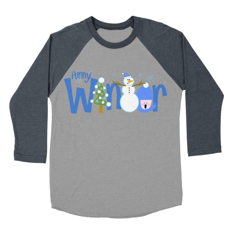 Funny Winter Men's Baseball Triblend T-Shirt by PickaCS's Artist Shop