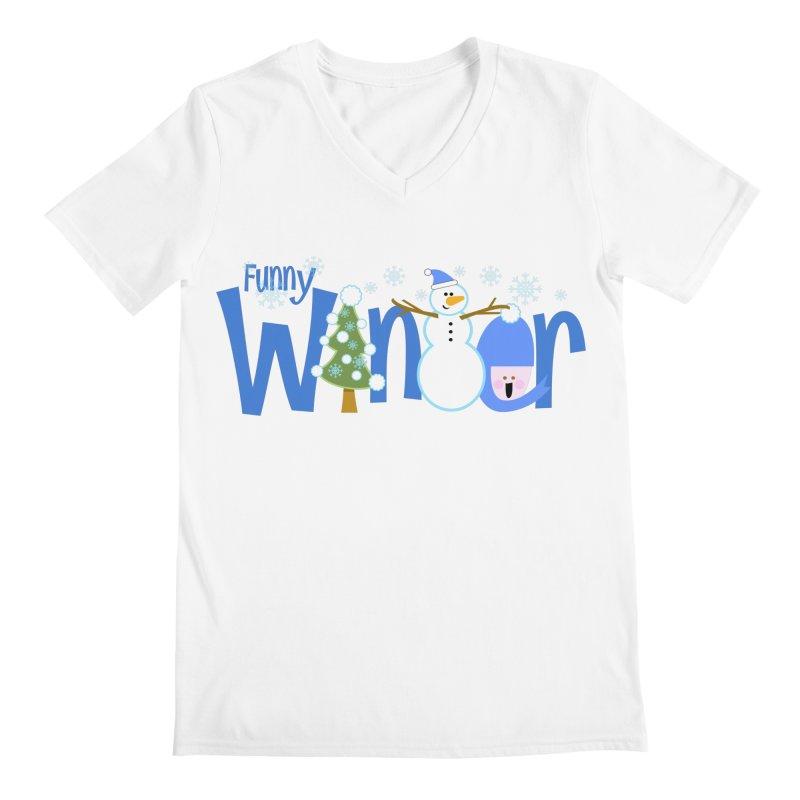 Funny Winter Men's V-Neck by PickaCS's Artist Shop