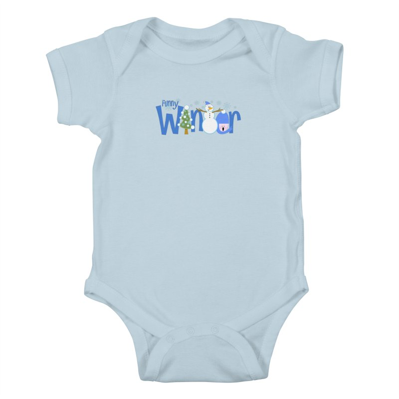 Funny Winter Kids Baby Bodysuit by PickaCS's Artist Shop