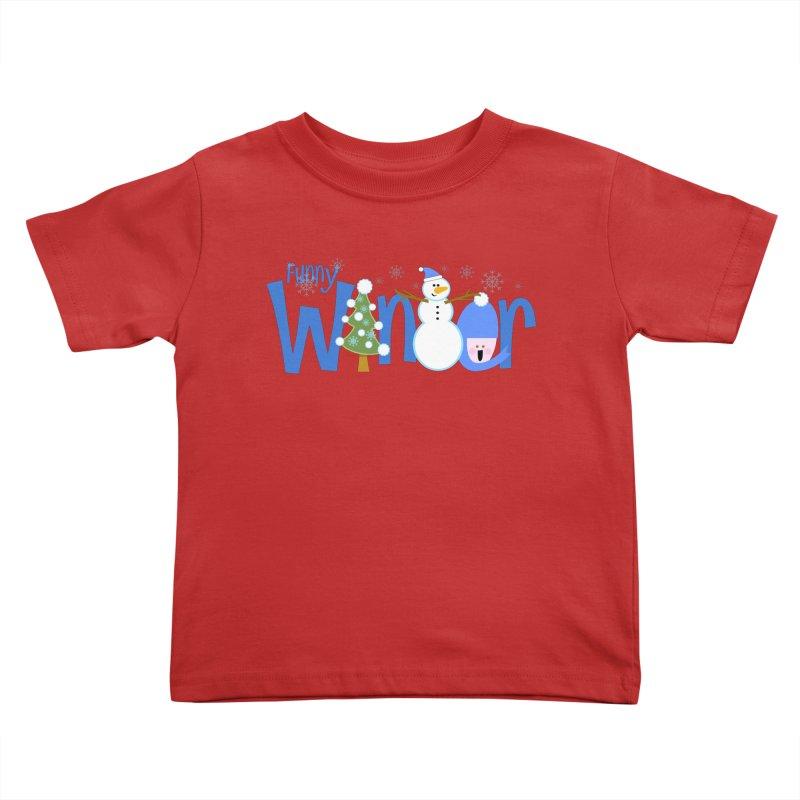 Funny Winter Kids Toddler T-Shirt by PickaCS's Artist Shop