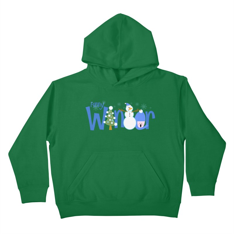 Funny Winter Kids Pullover Hoody by PickaCS's Artist Shop