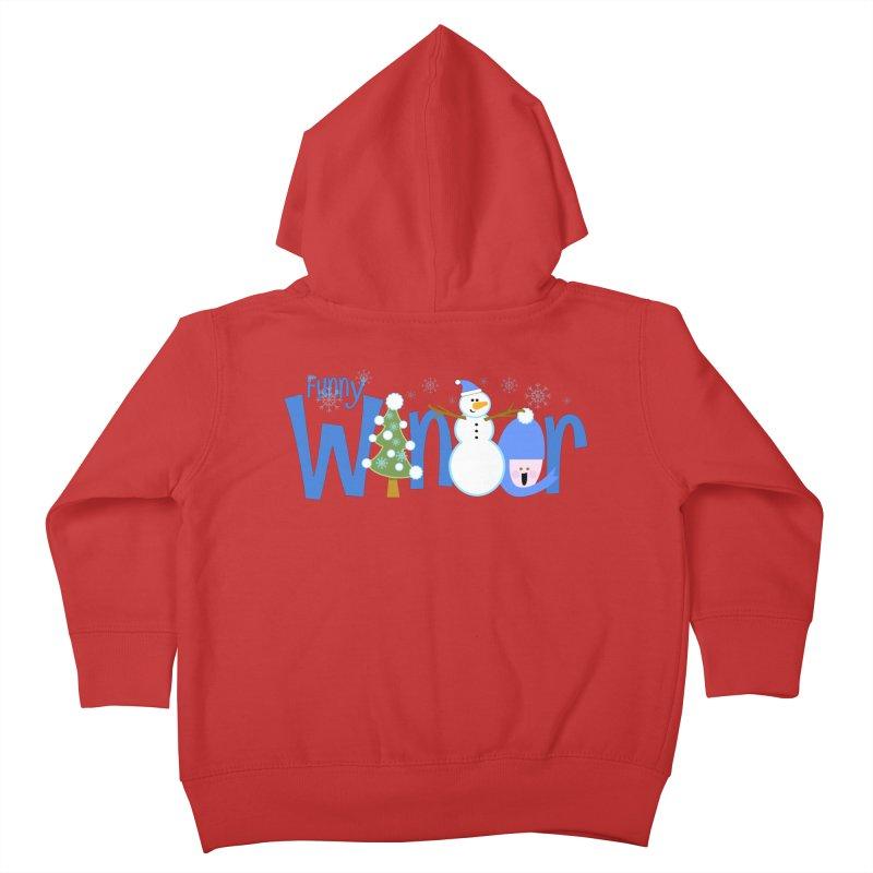 Funny Winter Kids Toddler Zip-Up Hoody by PickaCS's Artist Shop