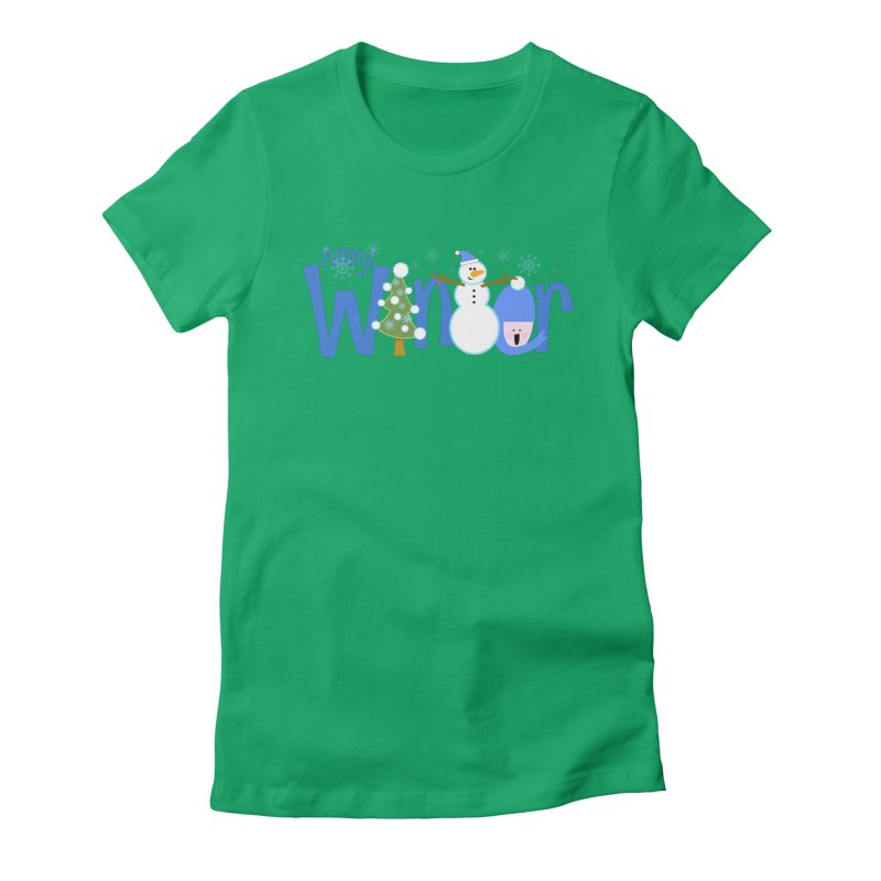 Funny Winter Women's Fitted T-Shirt by PickaCS's Artist Shop