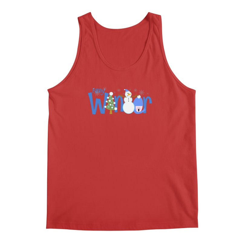 Funny Winter Men's Tank by PickaCS's Artist Shop