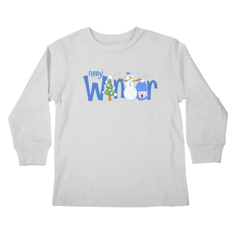 Funny Winter Kids Longsleeve T-Shirt by PickaCS's Artist Shop