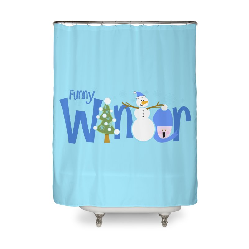 Funny Winter Home Shower Curtain by PickaCS's Artist Shop