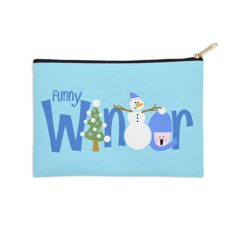 Funny Winter Accessories Zip Pouch by PickaCS's Artist Shop