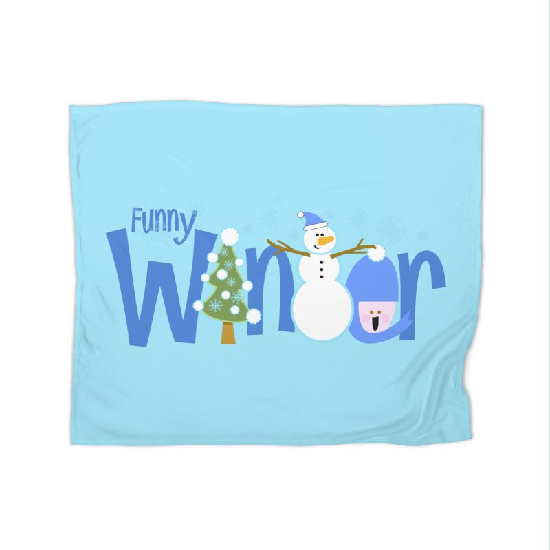 Funny Winter Home Blanket by PickaCS's Artist Shop
