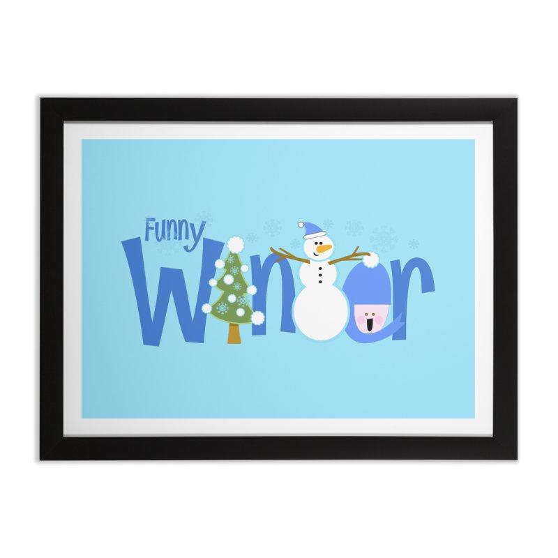Funny Winter Home Framed Fine Art Print by PickaCS's Artist Shop