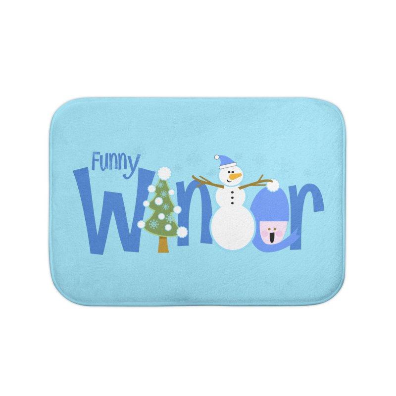 Funny Winter Home Bath Mat by PickaCS's Artist Shop