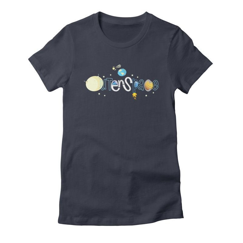 OuterSpace Women's Fitted T-Shirt by PickaCS's Artist Shop
