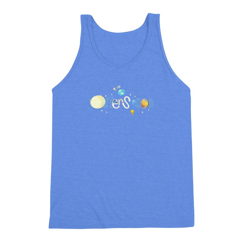 OuterSpace Men's Triblend Tank by PickaCS's Artist Shop