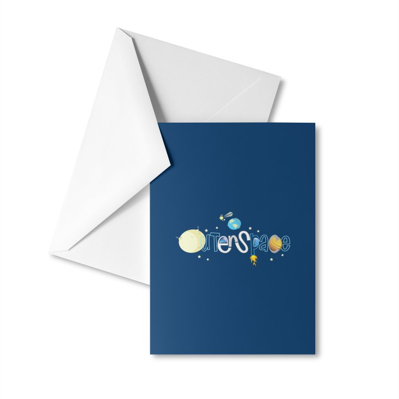 OuterSpace Accessories Greeting Card by PickaCS's Artist Shop
