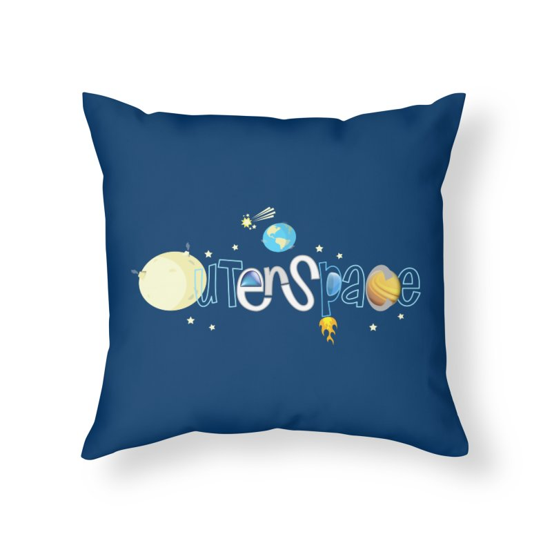 OuterSpace Home Throw Pillow by PickaCS's Artist Shop