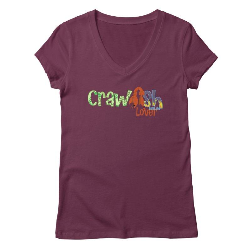 Crawfish Boiled Lover Women's V-Neck by PickaCS's Artist Shop