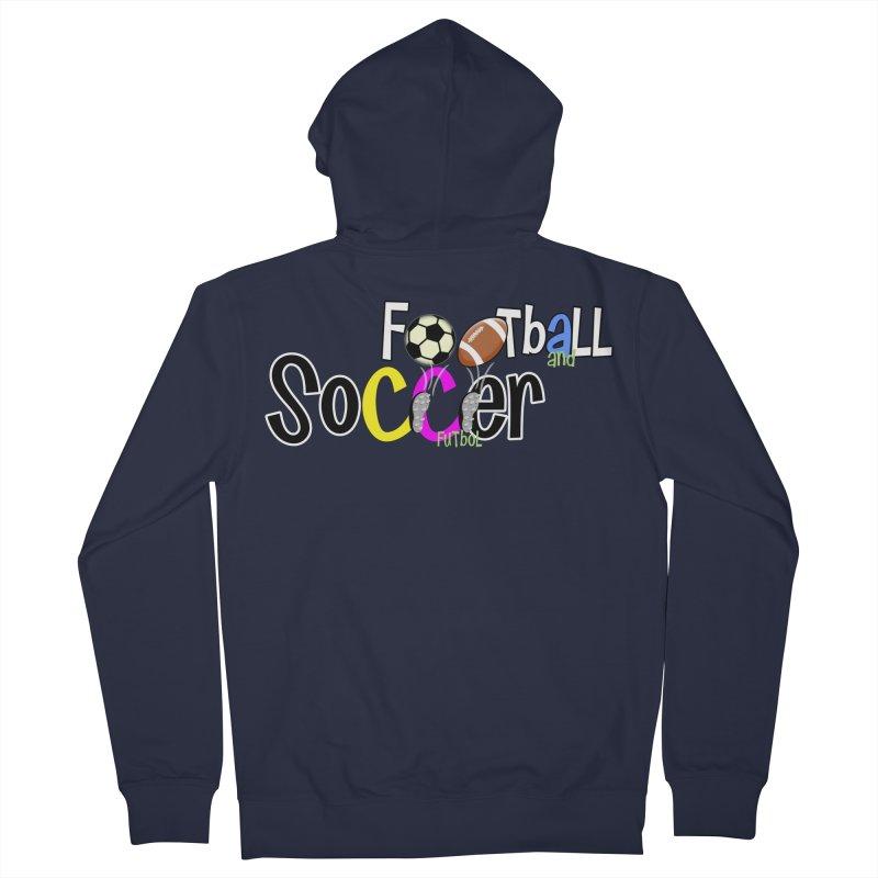 FootBall & SOCCER Men's Zip-Up Hoody by PickaCS's Artist Shop