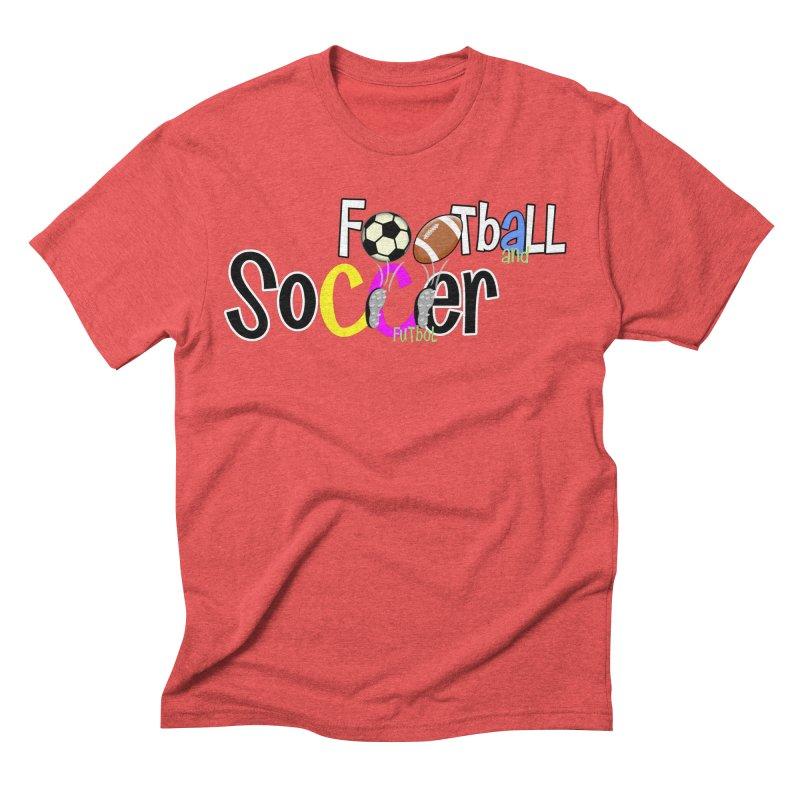 FootBall & SOCCER Men's Triblend T-Shirt by PickaCS's Artist Shop