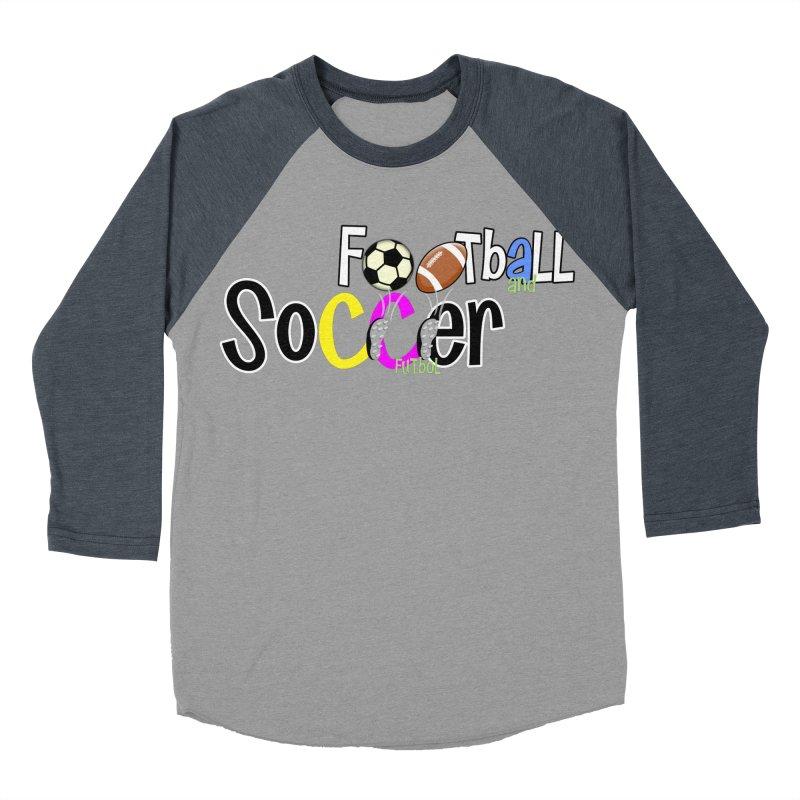 FootBall & SOCCER Men's Baseball Triblend T-Shirt by PickaCS's Artist Shop