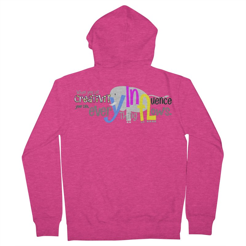 Creativity Women's Zip-Up Hoody by PickaCS's Artist Shop