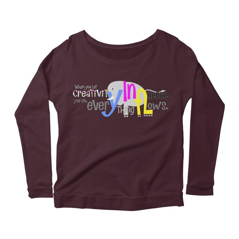Creativity Women's Longsleeve Scoopneck  by PickaCS's Artist Shop