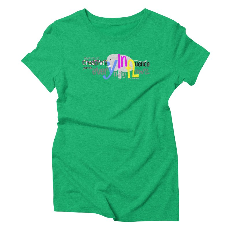 Creativity Women's Triblend T-Shirt by PickaCS's Artist Shop