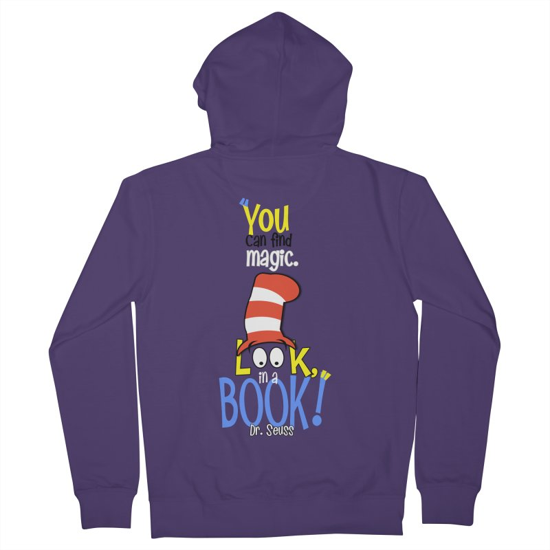 Look in a BOOK Women's French Terry Zip-Up Hoody by PickaCS's Artist Shop