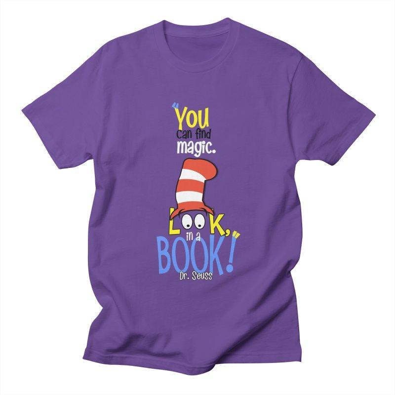 Look in a BOOK Men's Regular T-Shirt by PickaCS's Artist Shop