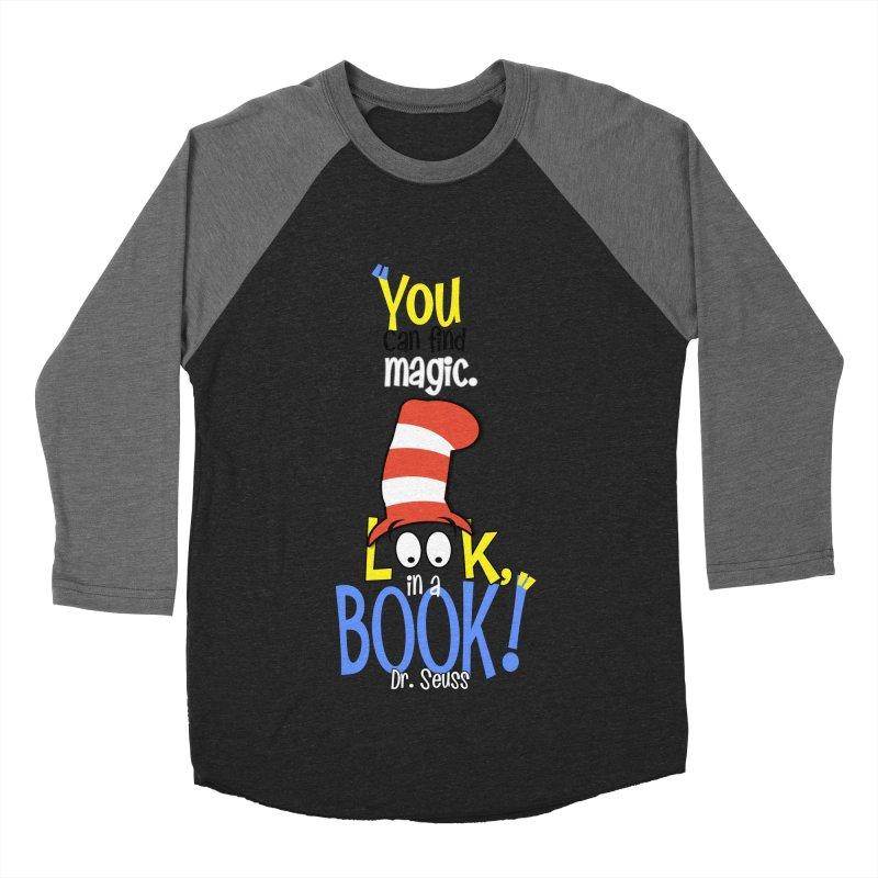 Look in a BOOK Men's Baseball Triblend T-Shirt by PickaCS's Artist Shop