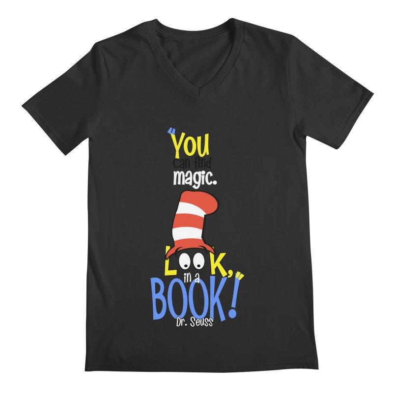 Look in a BOOK Men's V-Neck by PickaCS's Artist Shop