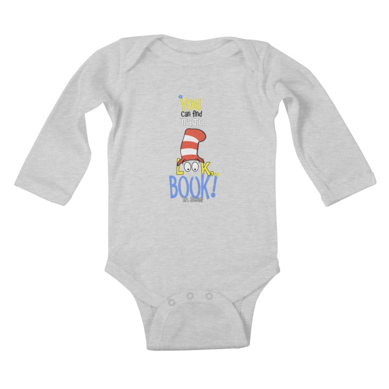 Look in a BOOK Kids Baby Longsleeve Bodysuit by PickaCS's Artist Shop