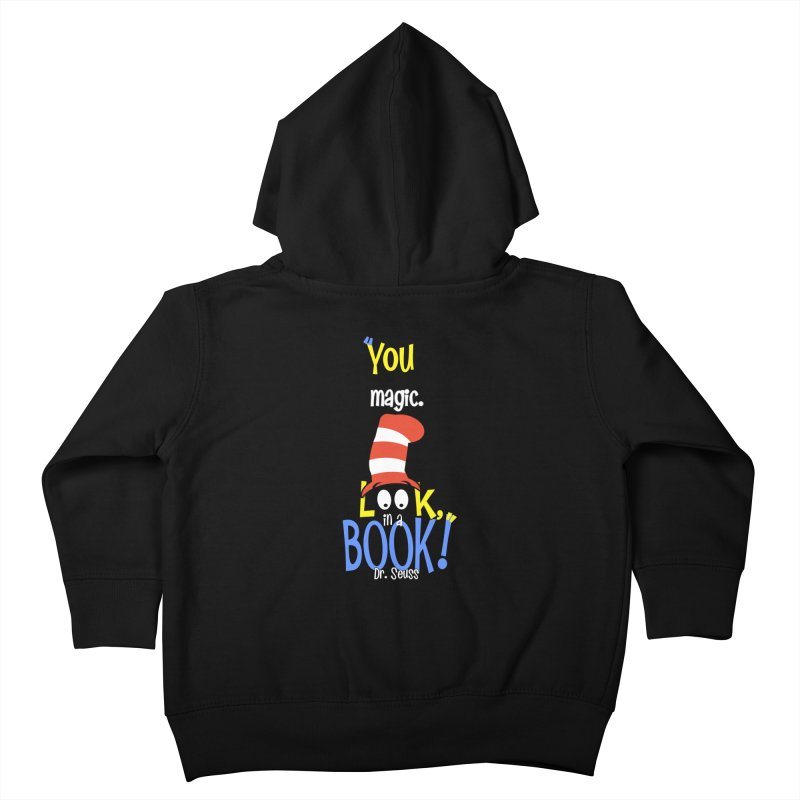 Look in a BOOK Kids Toddler Zip-Up Hoody by PickaCS's Artist Shop