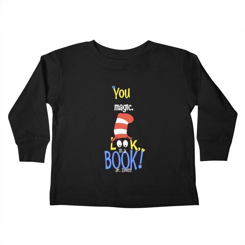 Look in a BOOK Kids Toddler Longsleeve T-Shirt by PickaCS's Artist Shop