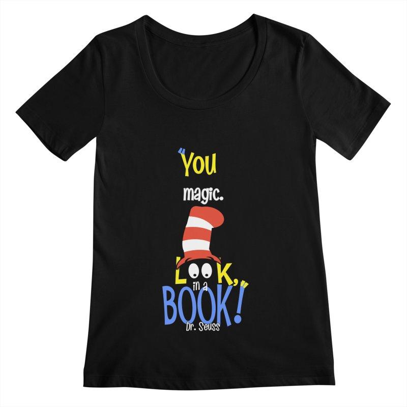 Look in a BOOK Women's Scoopneck by PickaCS's Artist Shop