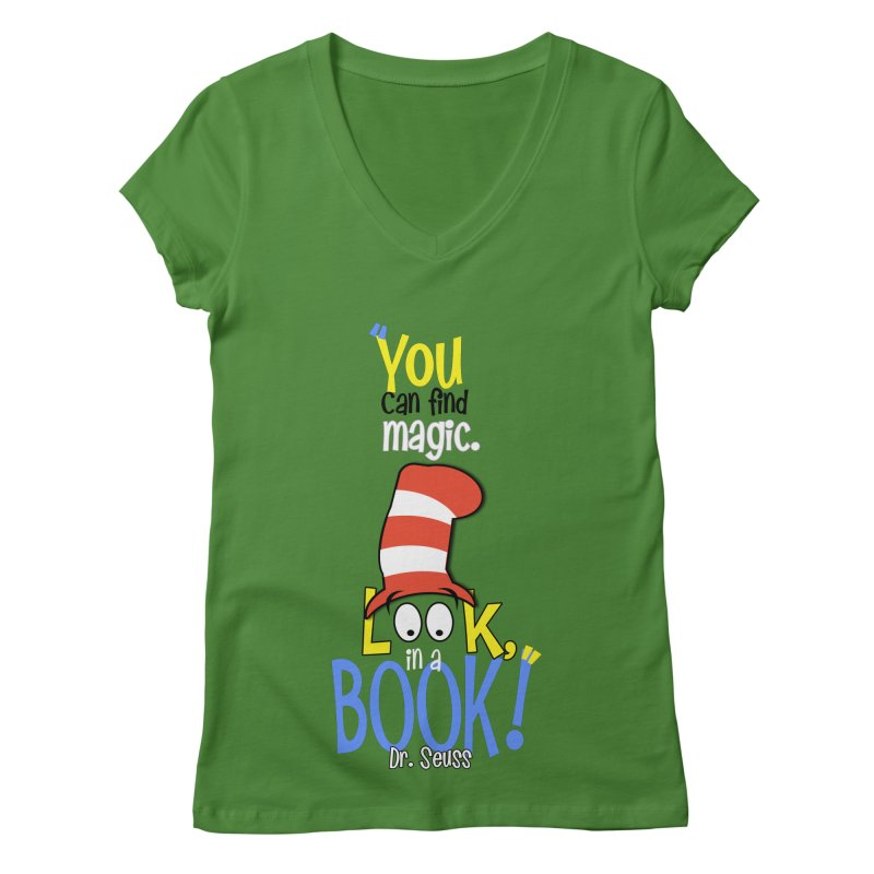 Look in a BOOK Women's V-Neck by PickaCS's Artist Shop