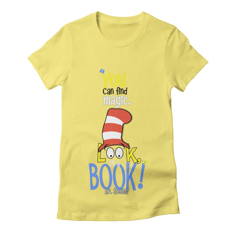 Look in a BOOK Women's Fitted T-Shirt by PickaCS's Artist Shop