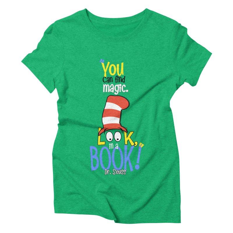 Look in a BOOK Women's Triblend T-Shirt by PickaCS's Artist Shop
