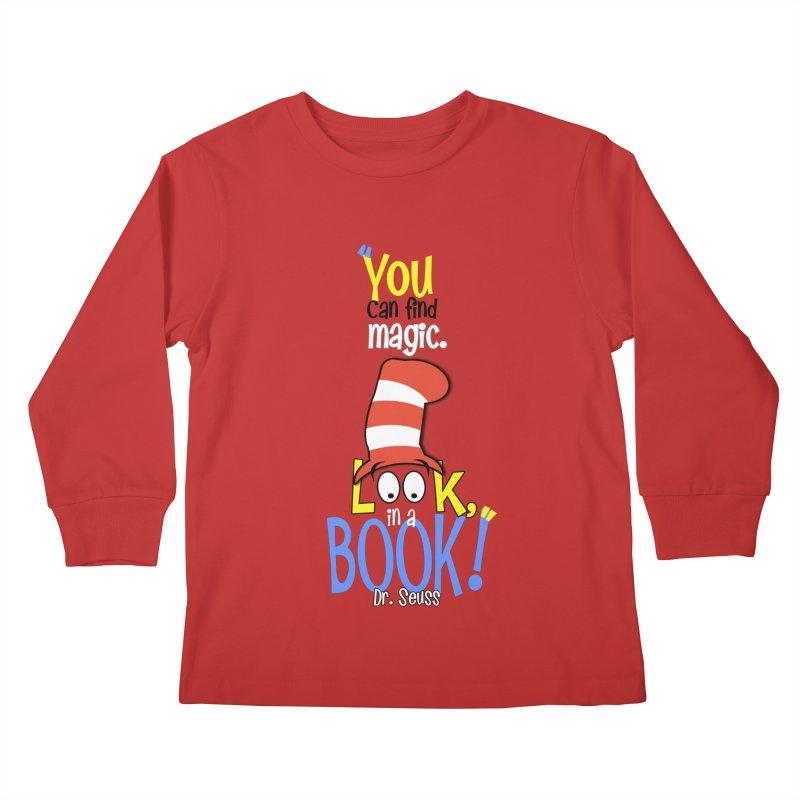 Look in a BOOK Kids Longsleeve T-Shirt by PickaCS's Artist Shop