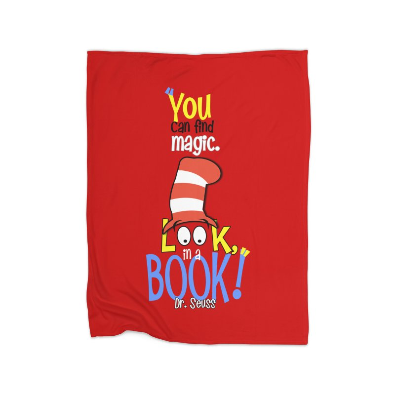 Look in a BOOK Home Blanket by PickaCS's Artist Shop