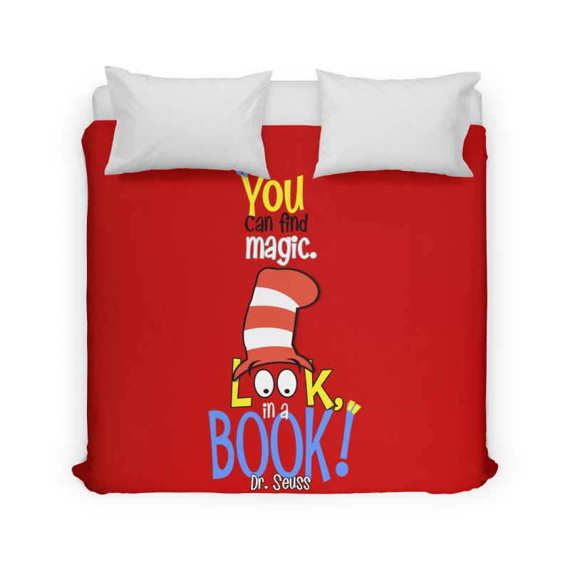 Look in a BOOK Home Duvet by PickaCS's Artist Shop