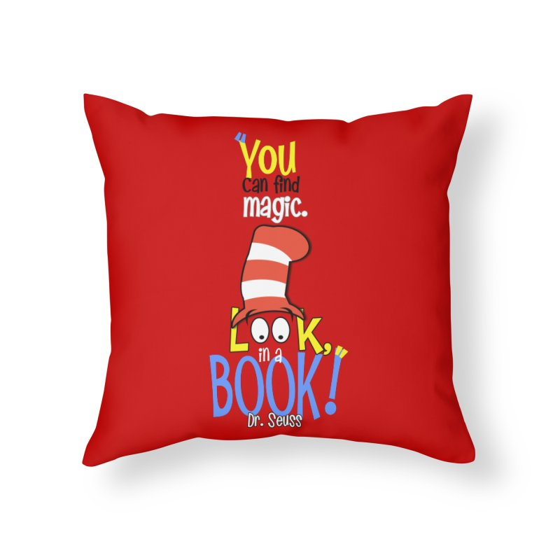 Look in a BOOK Home Throw Pillow by PickaCS's Artist Shop